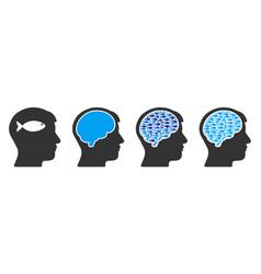fish human brain collage vector image