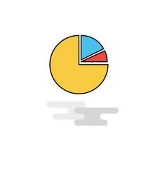 flat pie chart icon vector image