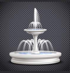 Fountains realistic isolated on transparent vector