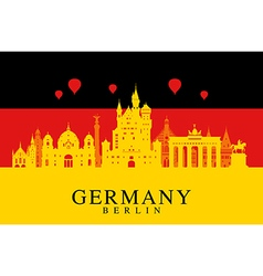 Germany Berlin travel landmark vector image
