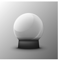 glass transparent ball on a clean vector image