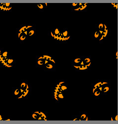glowing in the dark eyes haloween pattern vector image