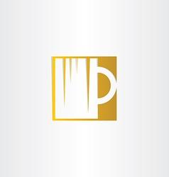 golden beer glass icon design vector image