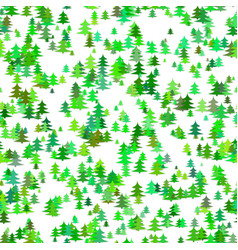 green random pine tree background - winter vector image