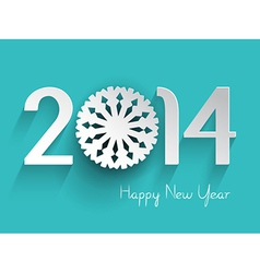 happy new year background with a snowflake design vector image