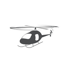 helicopter air transport aerial vehicle symbol vector image