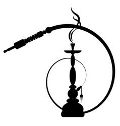 Hookah with smoke vector