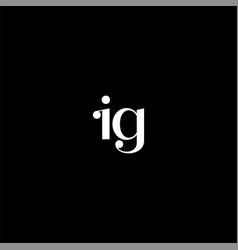 I g letter logo creative design on black color vector
