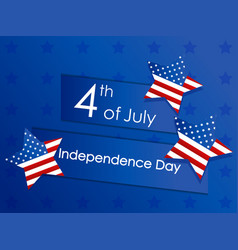 independence day 4th july festive banner with vector image
