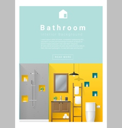 Interior design Modern bathroom banner 5 vector image