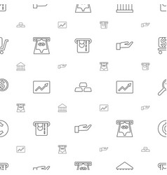 investment icons pattern seamless white background vector image
