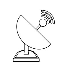 isolated web antenna vector image
