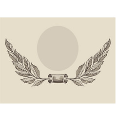 laurel wreath freehand vector image
