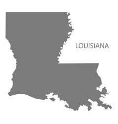 Louisiana usa map grey vector