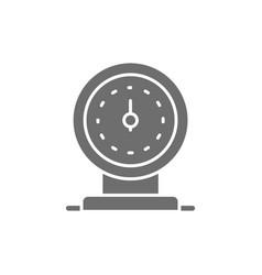 low fuel oil station pump grey icon vector image