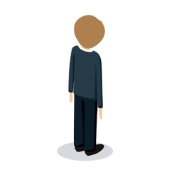 man avatar isometric isolated vector image