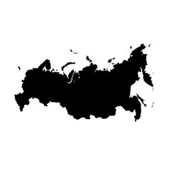 Map russia isolated black on vector