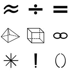 Math icon set vector