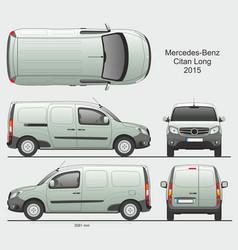 Mercedes citan 2015 l2 cargo van vector