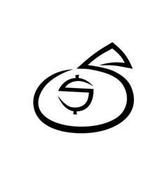 money bag icon on white vector image