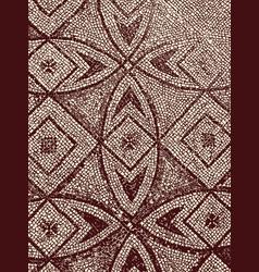 Mosaic fragment on floor old church in ravenna vector