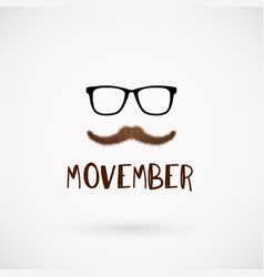 Movember men health month mustache symbol vector