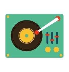 music vinyl retro icon vector image
