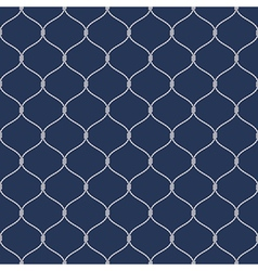 Nautical rope seemless fishnet pattern on dark vector
