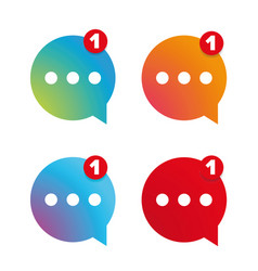 New message icon set vector