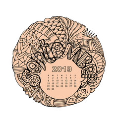 New year calendar grid with lettering september in vector
