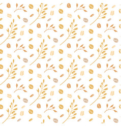 oat pattern seamless pattern with oat vector image