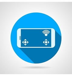 Phone game display flat icon vector image