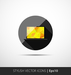 polygonal laptop vector image