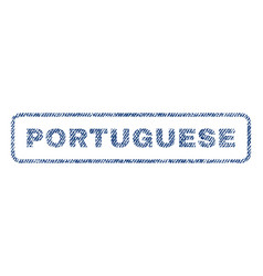 Portuguese textile stamp vector