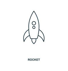 rocket icon outline style icon design ui vector image