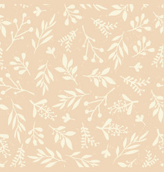seamless background abstract leaves beige vector image