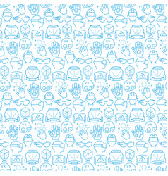 seamless pattern with icons virtual reality vector image