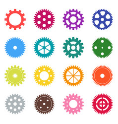Set of color gear wheels vector