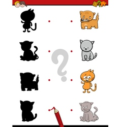 Shadow game with cats vector