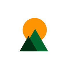 simple mountains colored logo vector image