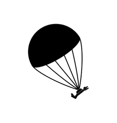 Skydiving extreme sport vector image