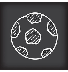 Soccer ball free hand doodle vector