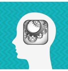 social profile design vector image