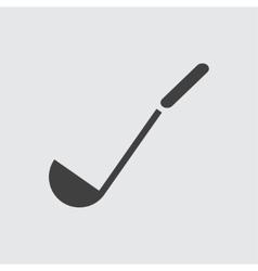 Soup ladle icon vector image