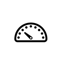Speedometer car speed meter flat icon vector