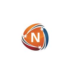 Success solution letter n vector