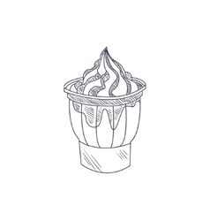 Sundae hand drawn sketch vector