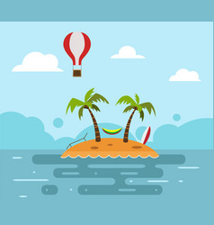the sea island beach vector image
