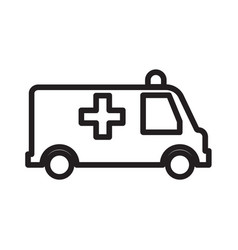 Thin line ambulance icon vector
