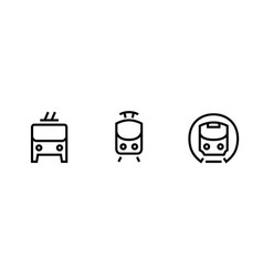 train metro tram trolleybus icons editable vector image